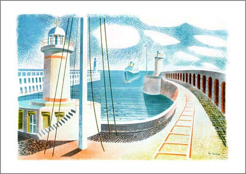 Eric Ravilious Newhaven Harbour print