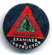 Cycling Proficiency examiners badge