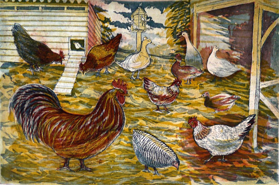 Richard Bawden colour aquatint