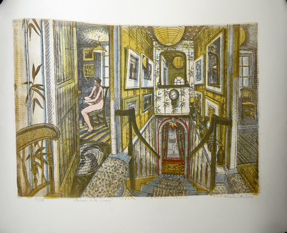 Richard Bawden etching and linocut