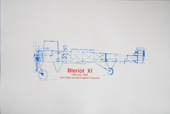 Louis Bleriot blueprint