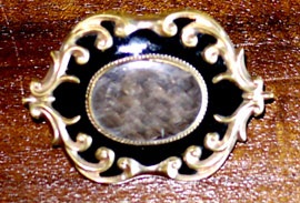 19th century memoriam brooch