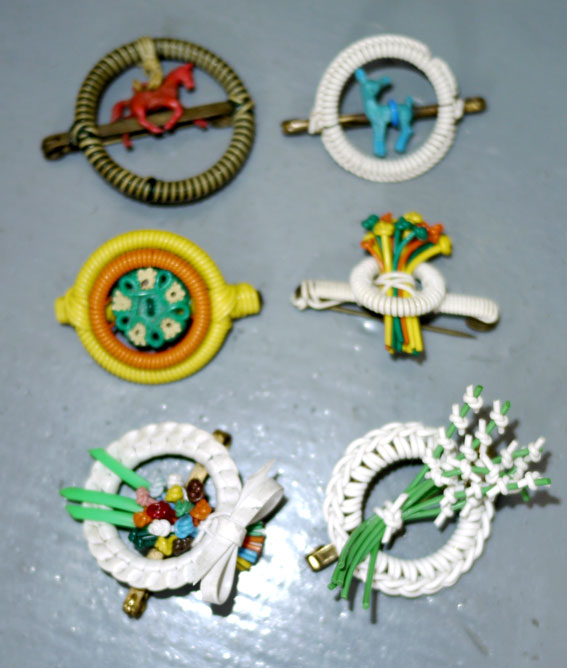 1940s utility brooches