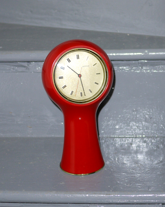 1960's Angelo Mangiarotti table clock