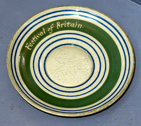 Reginald Lewis pottery dish for 1951 Festival of Britain