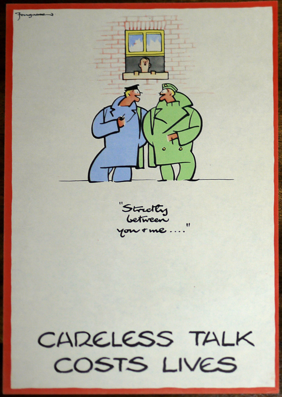 original Fougasse Careless Talks poster