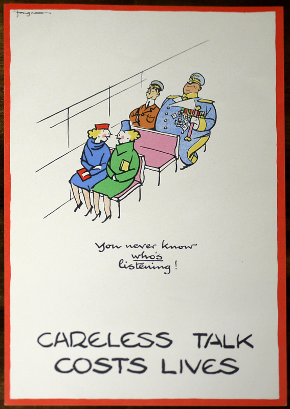 Fougasse original Careless Talks poster