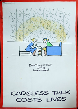 original Careless Talks poster by Fougasse WW2