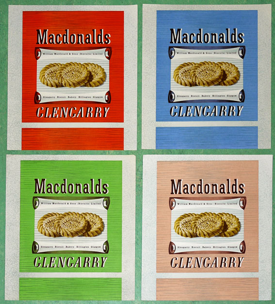 Barnett Freedman lithograph biscuit wrappers 1940's