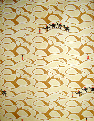 original Edward Bawden wallpaper Sahara