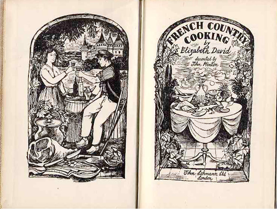 Elizabeth David Country Cookery book with John Minton illustrations