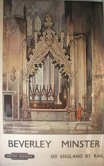 British Railways poster Beverley Minster