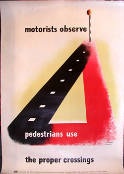 Tom Eckersley motoring safety poster