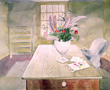 ravilious giclee print flowers on garden table