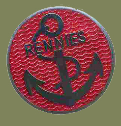 Rennies enamel badge