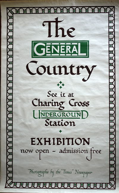 original london transport poster by willoughby 1930s