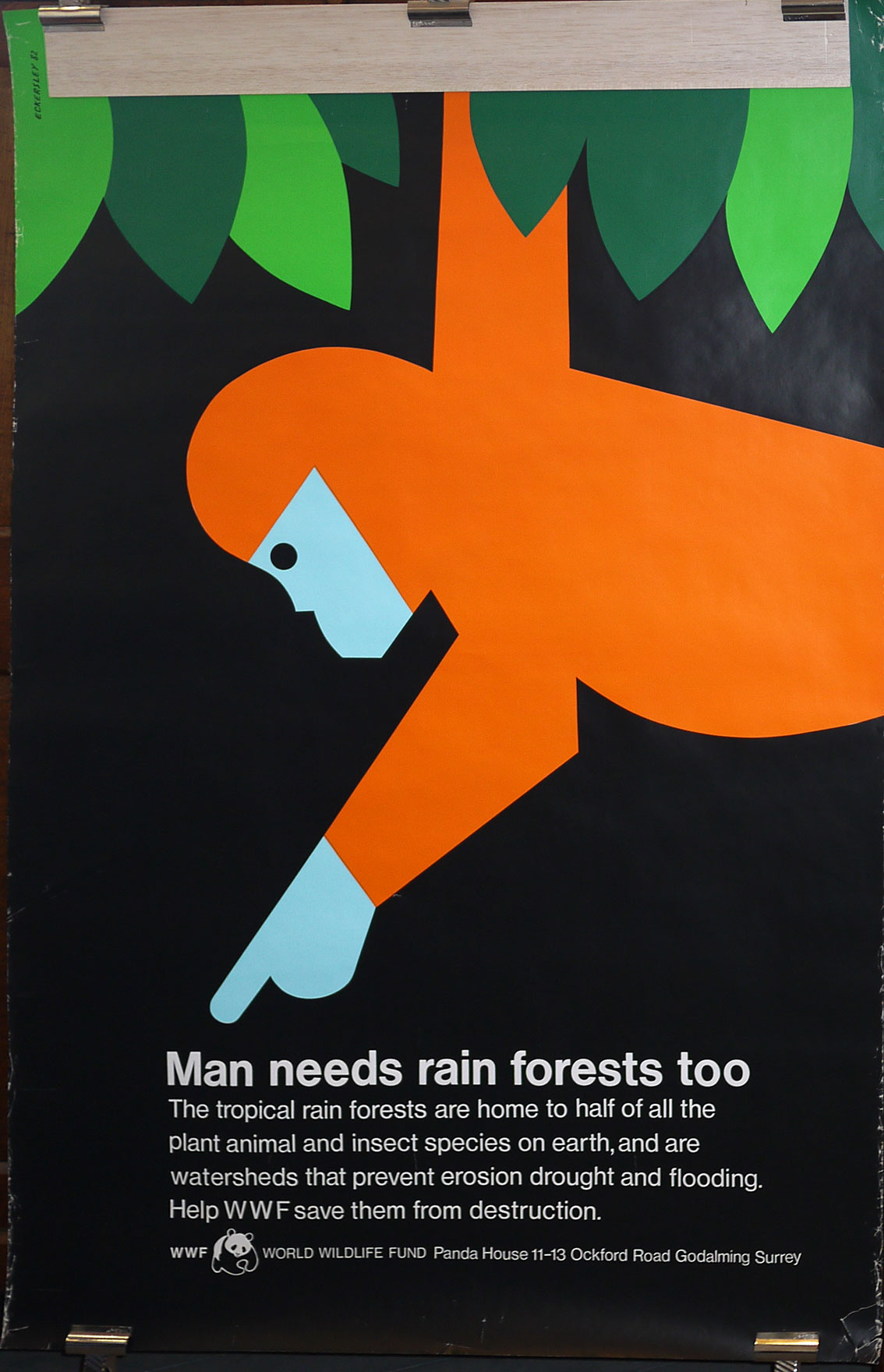Tom Eckersley WWF original poster
