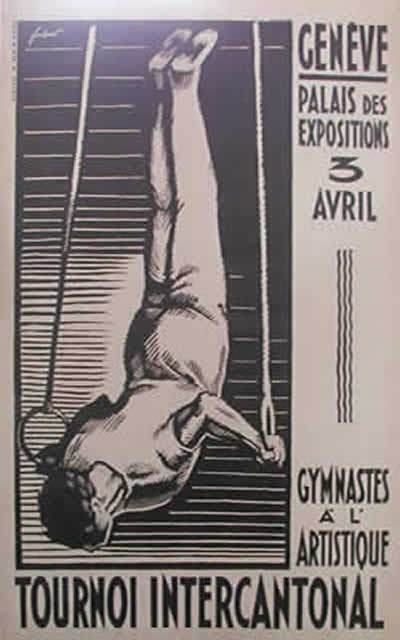 Gymnasts 1920s poster