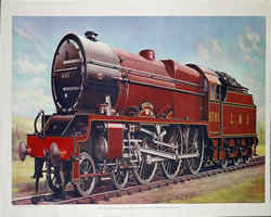 Kings own loco train print