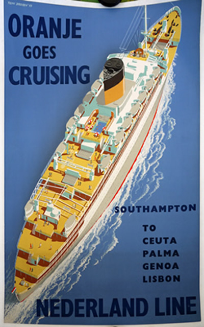 original 1950s poster for Orange cruises