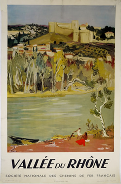 French Rhone Valley poster