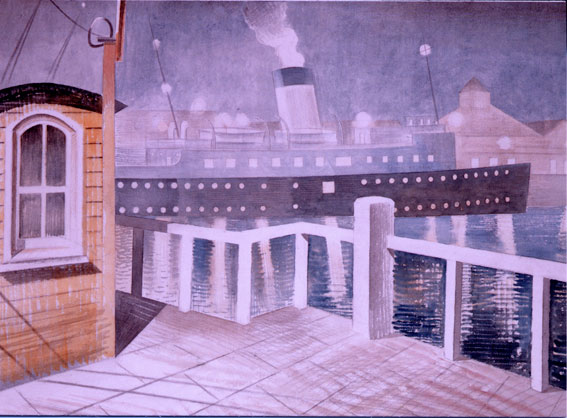 Ravilious Channel Steamer greetings card