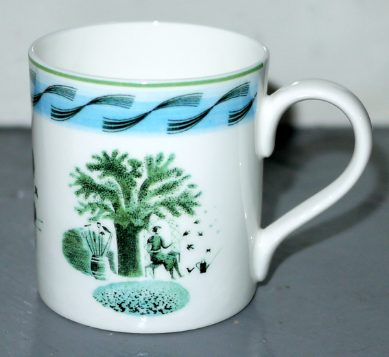 ravilious garden bone china mug