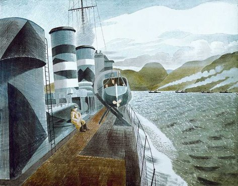 Ravilious giclee print Leaving Scapa Flow