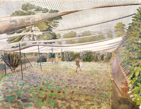 Wiltshire Strawberry Nets Ravilious giclee print