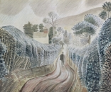 Ravilious giclee print wet afternoon
