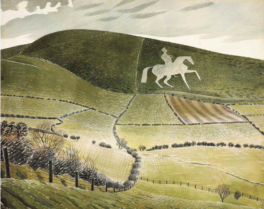 Ravilious limited edition print Chalk Horse