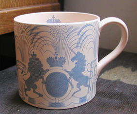 rare coronation mug by Eric Ravilious for Wedgwood