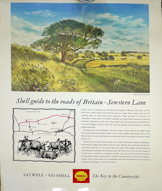 Shell landscape posters 1950's