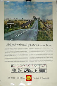Shell landscape poster 1950's