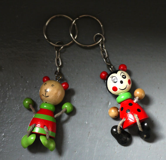 1940s wooden keyrings
