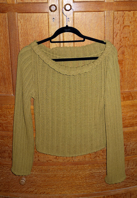 Mary Farrin olive jumper