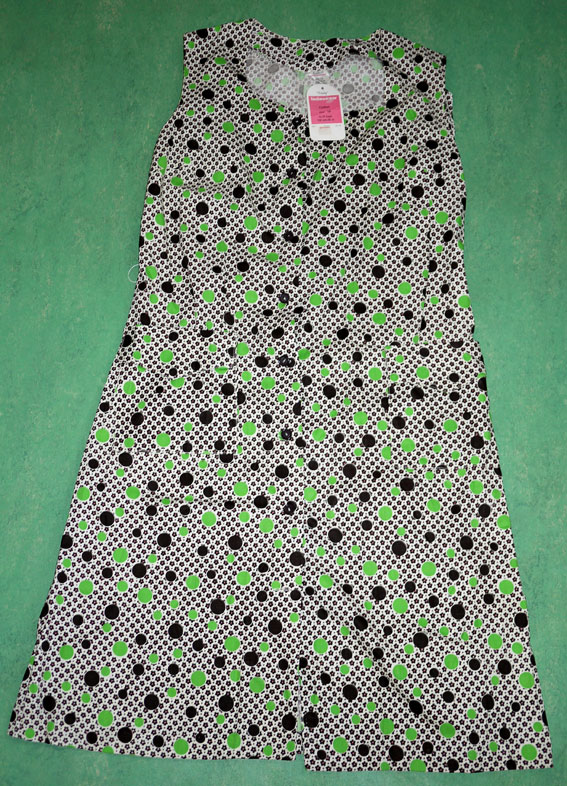 1960's printed cotton pinafore dress