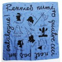 RENNIES own limited edition silk scarf, Jeff Fisher illustration